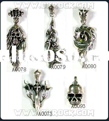 925 silver pendant wholesale sterling silver skull pendant