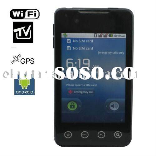 A9000 Unlocked Android 2.2 OS Cell Phone Dual SIM Dual Camera GPS WIFI TV