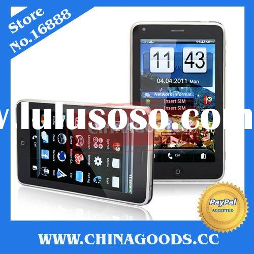 Accept paypal WIFI mobile phone T8500 TV 5 inch big touch Unlocked GSM Dual Sim Card cell phone