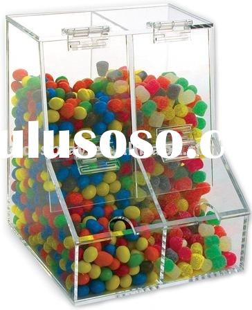 Acrylic Food display supermarket candy storage box