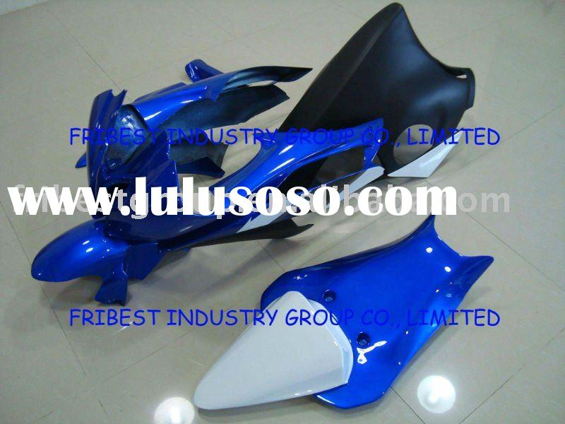 Aftermarket complete set motorcycle FIBERGLASS fairings kit for R6 08-09 BLUE&WHITE&BLACK FI