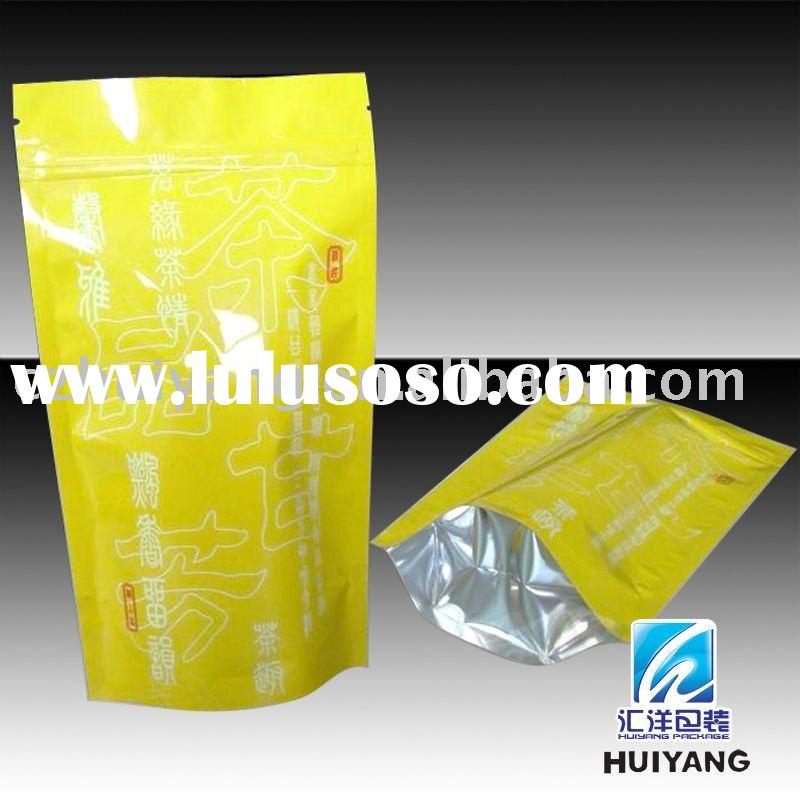 Aluminum foil laminated pouch with ziplock for tea packaging