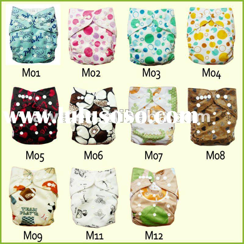 Alva All in Two Cloth Diapers, One Size Minky Baby Cloth Diapers