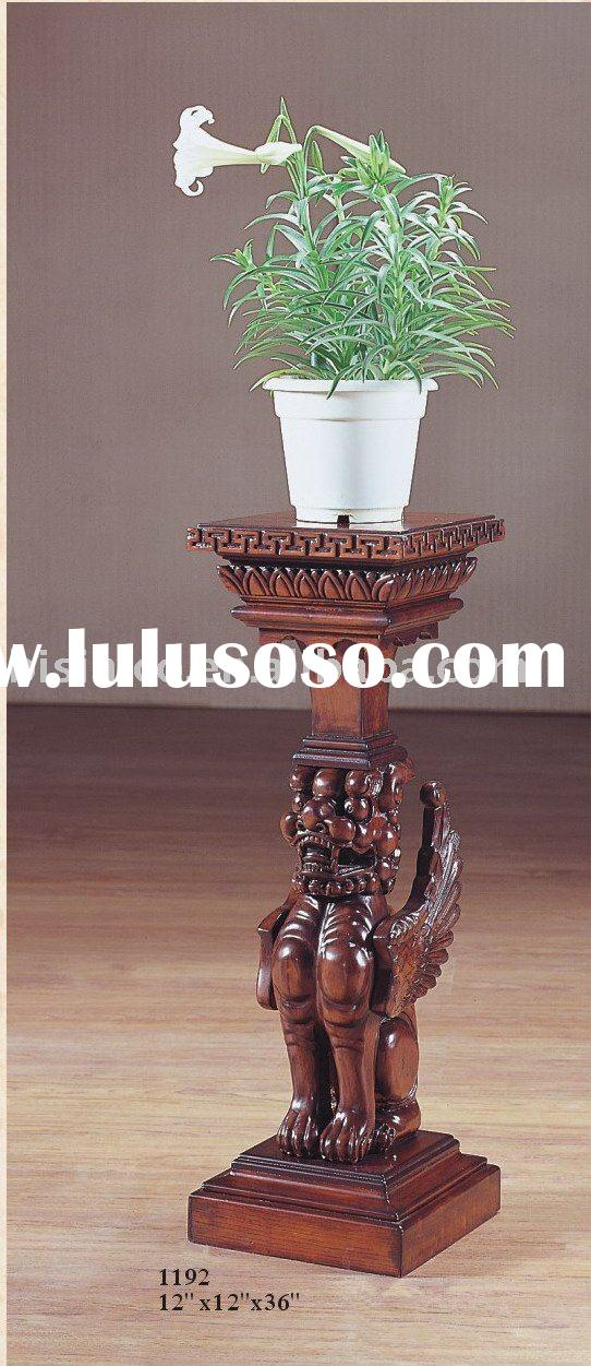 American solid wood flower stand,hand carving flower stand,antique furniture