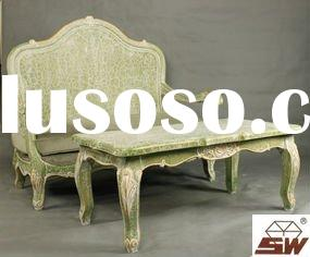 Antique Reproduction Fruniture French Salon Set Sofa and Table S001&T005
