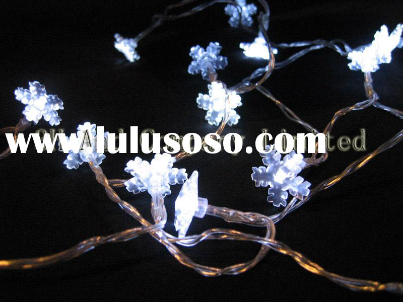Battery operated led lights with flower shades