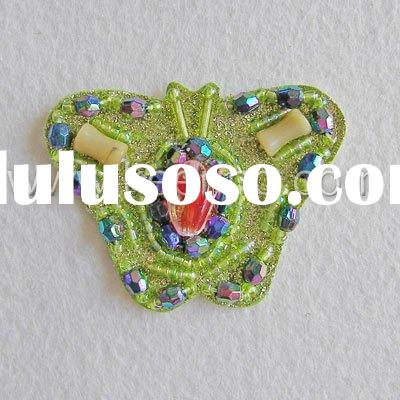 Beaded Patch, Beaded Motif, Badge