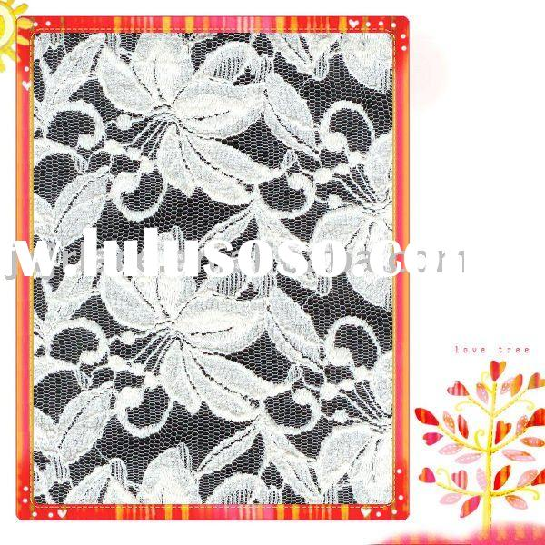 Beautiful flower cotton lace fabric with Thread pressure yarn