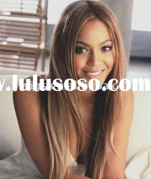 Beyonce Celebrity Hairstyle Blonde Human Hair Lace Front Wig