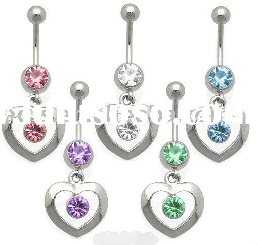 Body piercing navel ring