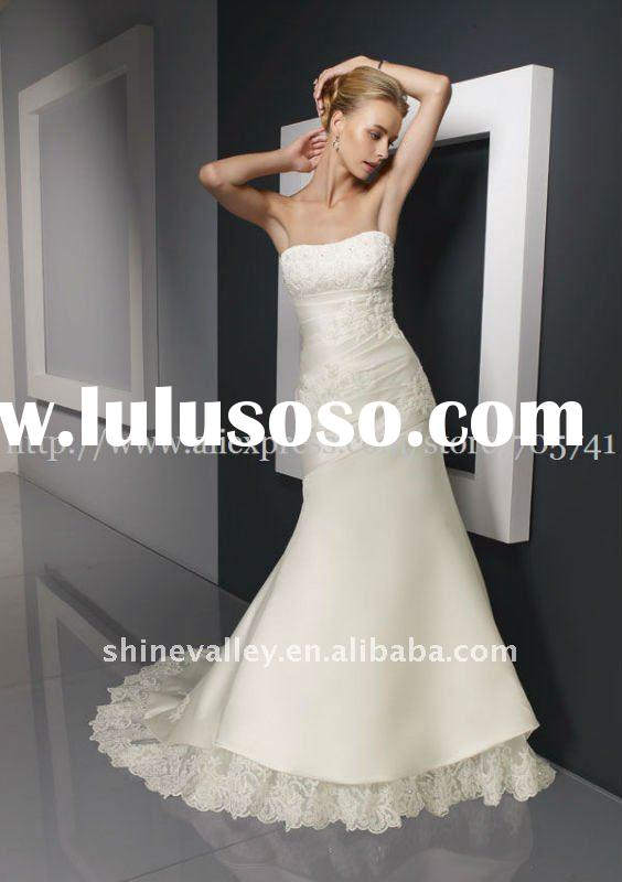 Brand New Fast Shipping Lace and Satin Wedding Gown,SH859