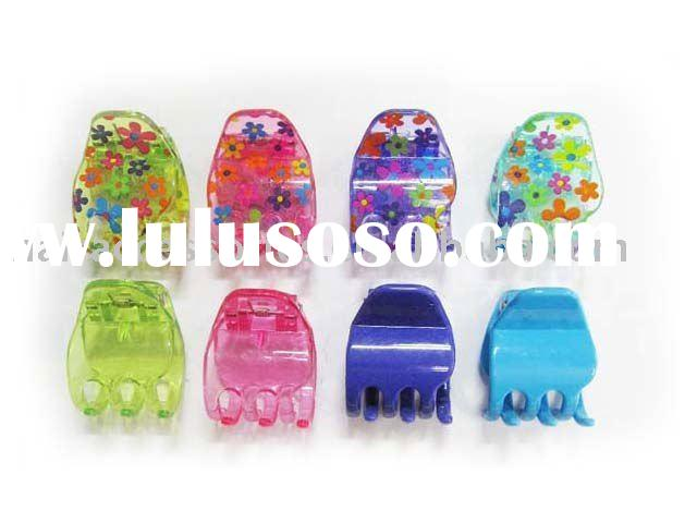 Bright-Color Printed Plastic Hair Claw Clip