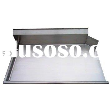 Brushed Stainless Steel sink with dish table