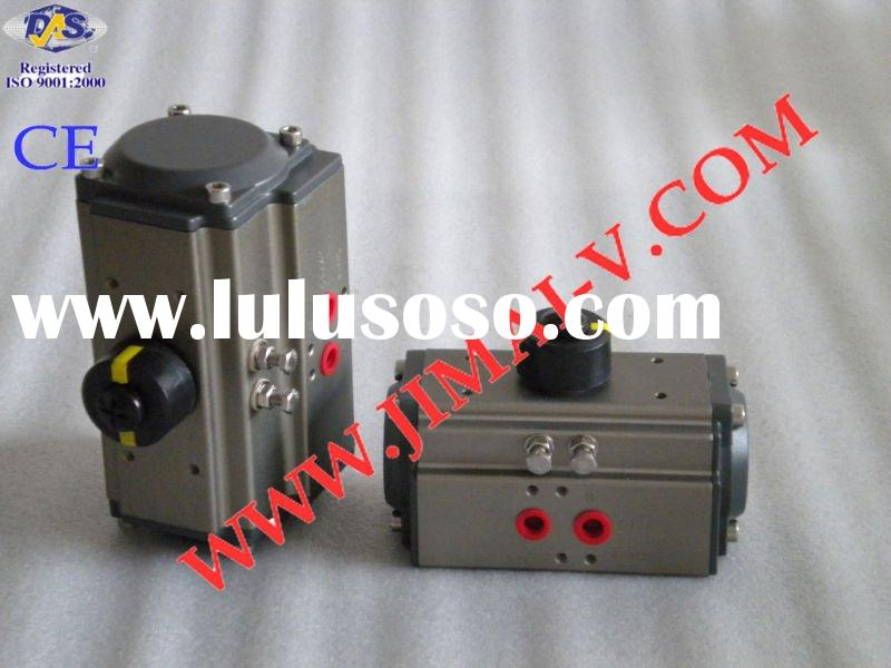 CE, ISO, dual piston rack and pinion spring return pneumatic valve actuator