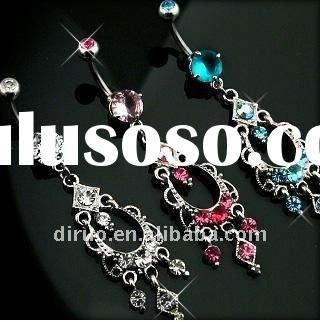 CZ Chandelier Dangle Gem Belly Ring Body Piercing Jewelry C1811-No.1 Supplier in China