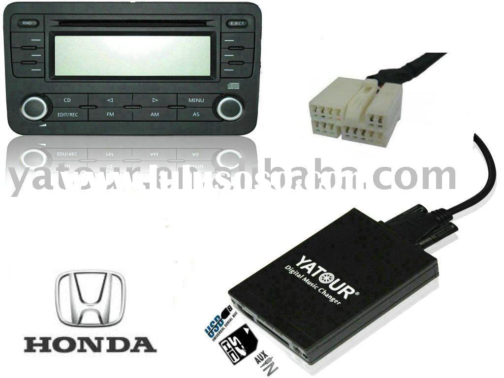 Car audio interface (USB SD AUX) for Honda 2.4 Accord Civic Jazz CR-V Goldwing City Fit