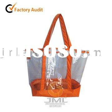 Clear PVC Tote Bag With Change Bag