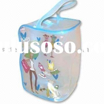 Clear PVC bag with handle and zipper lock
