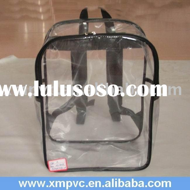 Clear Small PVC Backpack for Kids with Two Pockets