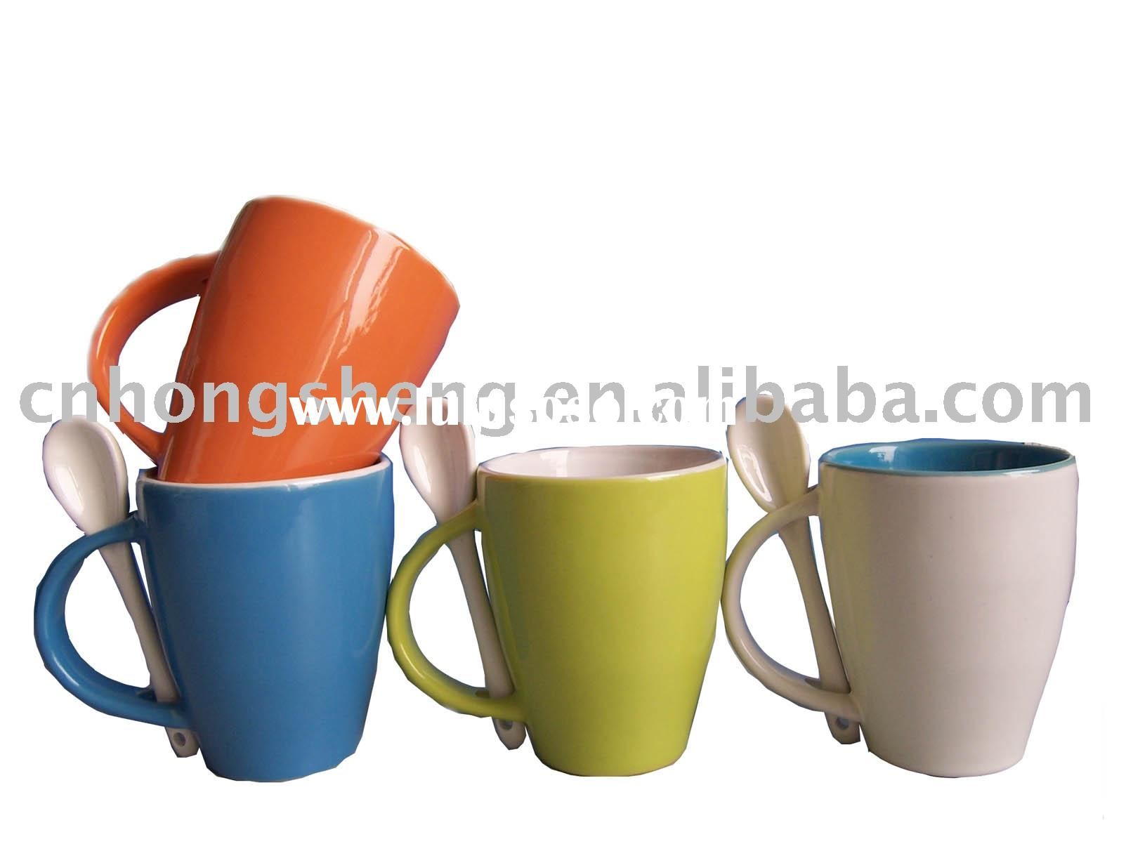 Color Ceramic Mug Spoon for Tea Mug Set for Promotion
