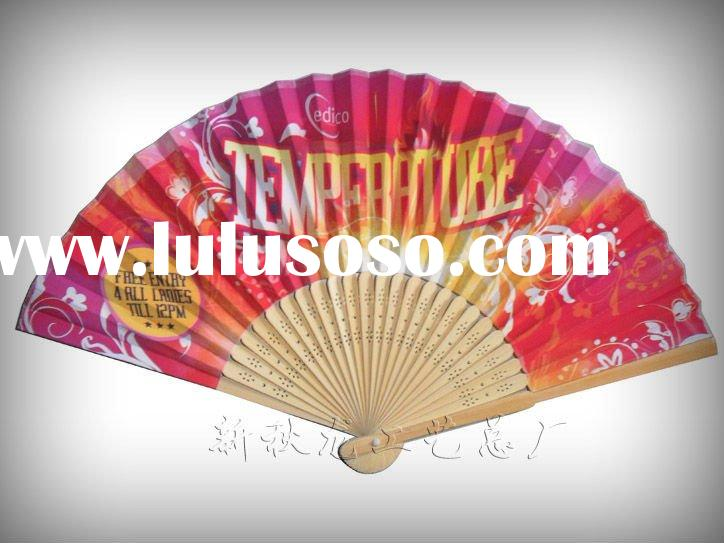 Custom bamboo hand fan with your logo