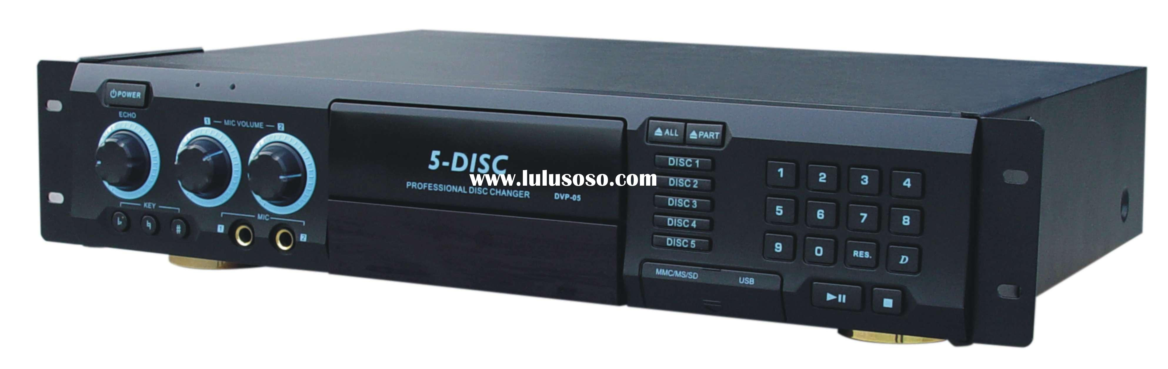 DVD / DIVX Player 5-Disc Changer with karaoke function & USB & card Reader(DVP-05)
