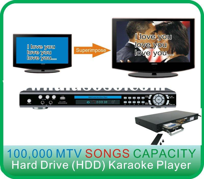 DVD HDD Karaoke Player with Superimpose function