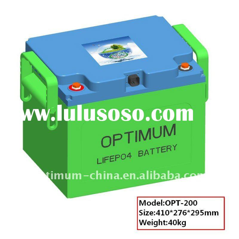 Deep cycle ups/solar-wind storage system LiFePO4 battery pack 24V-200Ah with suitable BMS and case