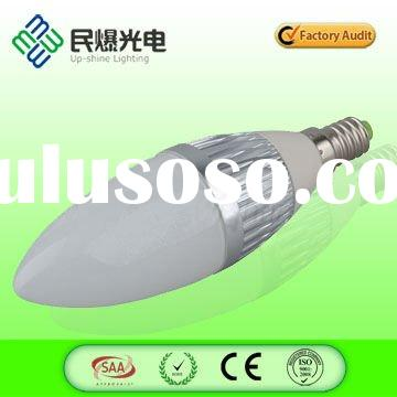 Dimmable high lumen 4W E14 LED candle bulb
