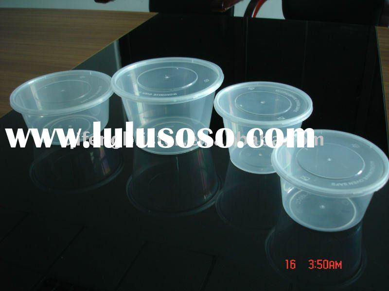 Disposable plastic take away food container