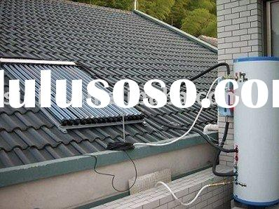 EN12975-certified Split Solar Water Heater with Heat Pipe Collector and Aluminum Alloy Frame