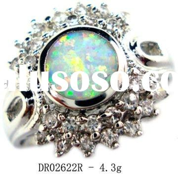 Elegant and charms Silver Jewelry with Nature Fire Opal Rings DR02622R Accept Pay By Paypal