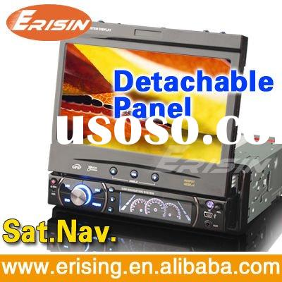 "Erisin 7"" 1 Din HD Touch Screen Detachable Car Stereo DVD TV GPS SD Radio Bluetooth Multi-langu"
