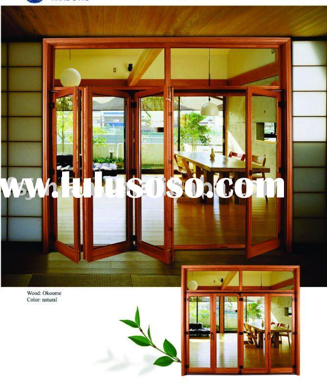 Deluxe solid wooden partition door for sale price china for Solid patio doors