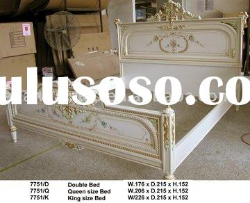 European style antique solid wood queen size bed & king size bed &double bed