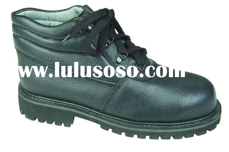 Export buffalo leather rubber sole safety shoes