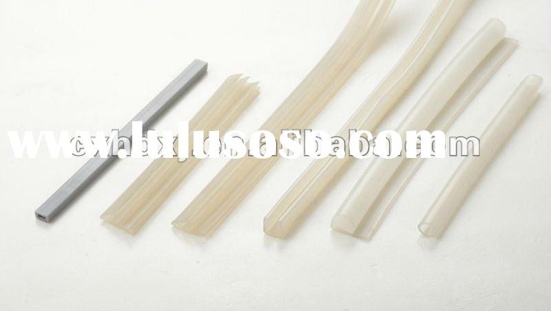 Extruded silicone sealing strip for edge