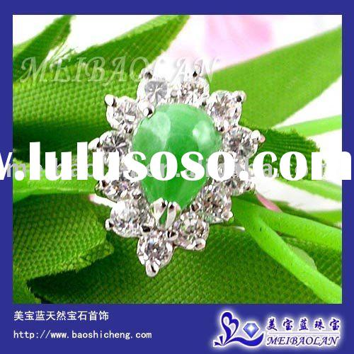 FASHION JEWELRY ,925 STERLING SILVER JADE RING (j060802agf)