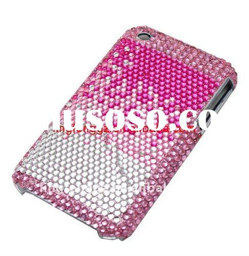 Fashion rhinestone mobile phone cover for 3g