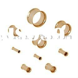 Flesh Tunnel - Double Flared Eyelet,316l stainless steel flesh tunnel body jewelry,ear plugs body pi
