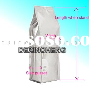 Foil coffee bags with valve