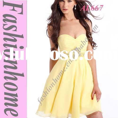 Free shipping knee length Prom dress AL667