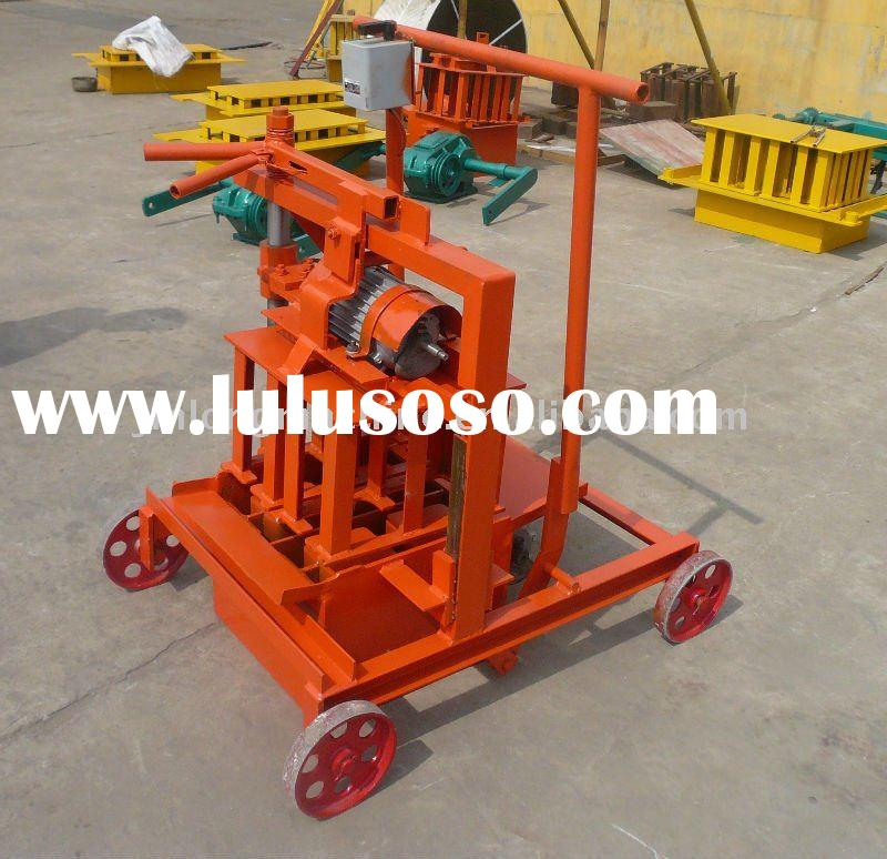 From China and low price manual concrete block making machine
