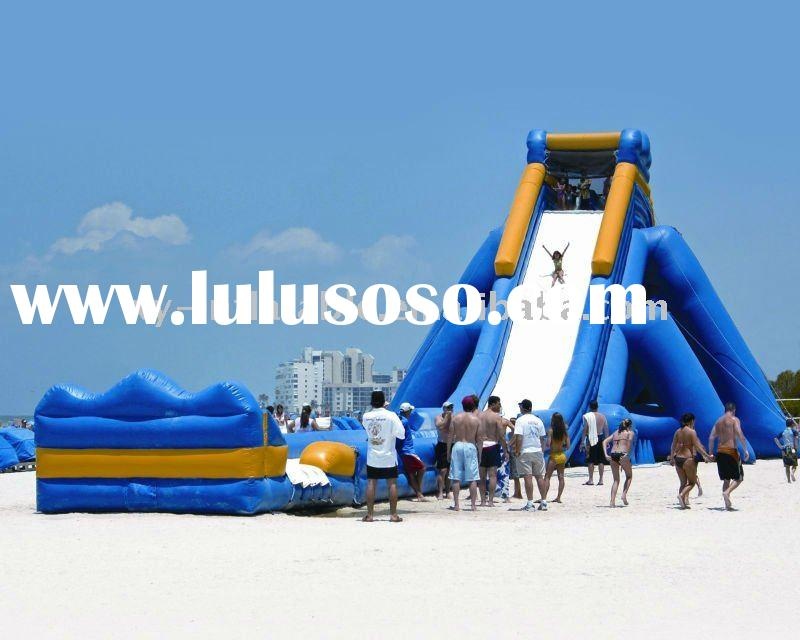 Giant seaside funny inflatable water slide for adults&kids