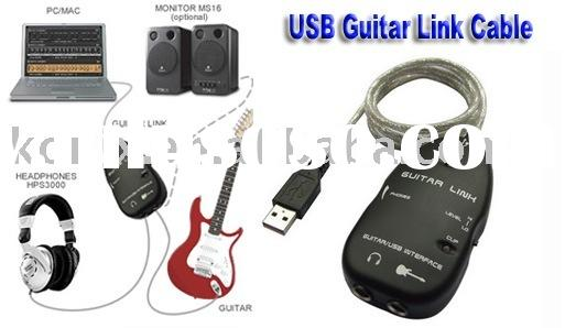 Guitar/Bass USB Audio Interface Cable