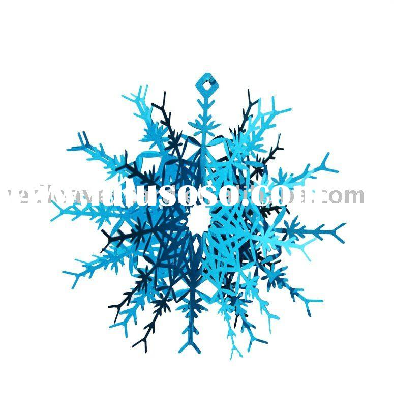 HOT 2011 Red Leaves Laser cutting christmas decorations st0904-02