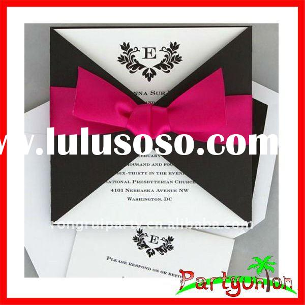 Handmade wedding invitation card with ribbon for sale for Handmade wedding invitations for sale