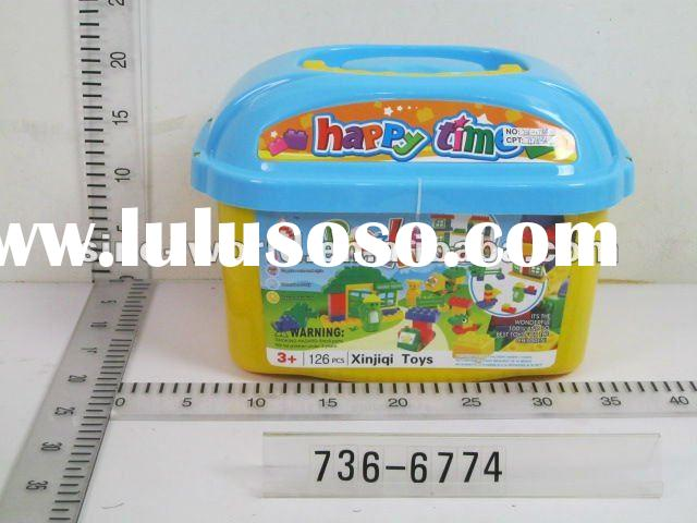 Happy time children plastic block/bricks toy