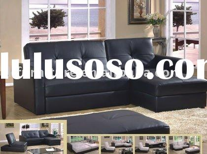 High Grade Corner Sofa Bed In leather upholstery