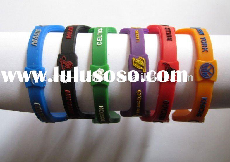 Hot Sell Debossed Silicone Wristband
